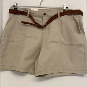 Plus Size Style&Co Belted Shorts Sizes 18W and 22W